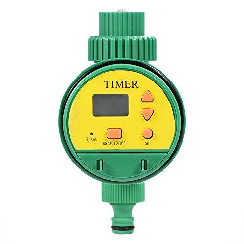 Fdit Elektronische Wasser Timer, Bewässerungsuhr, Zeitmesser mit LCD Display Digital Bewässerung Controller, Automatische Bewässerung für Garten Pflanz