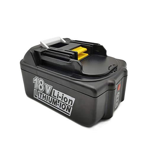 PowerWings Batería de repuesto BL1850B de ion de litio con indicador LED para batería Makita de 18 V, 5 Ah (5000 mAh) compatible con dispositivos de batería Makita de 18 V