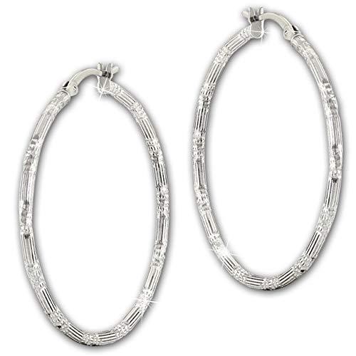 SilberDream Ohrringe Creolen 925 Echt Silber Orient Damen Schmuck SDO67376 Silber Creole