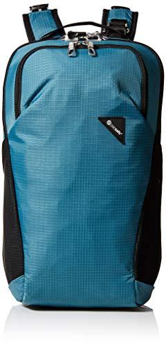 Pacsafe Vibe 20 - Anti-Diebstahl Rucksack, Backpack, Diebstahlschutz Daypack, Sicherheitstechnologie 20 Liter, Türkis/Hydro