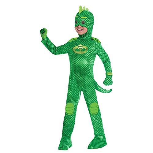 Amscan- Costume PJ Mask Gekko Luxe (3-4 Anni),...