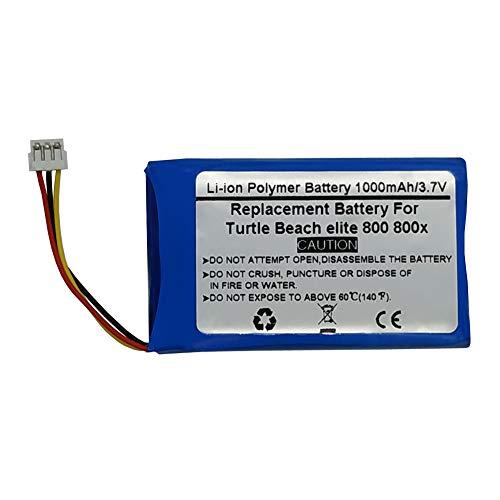 Batteria di ricambio da 3,7 V 1000 mAh per cuffie wireless Turtle Beach Elite 800 800x
