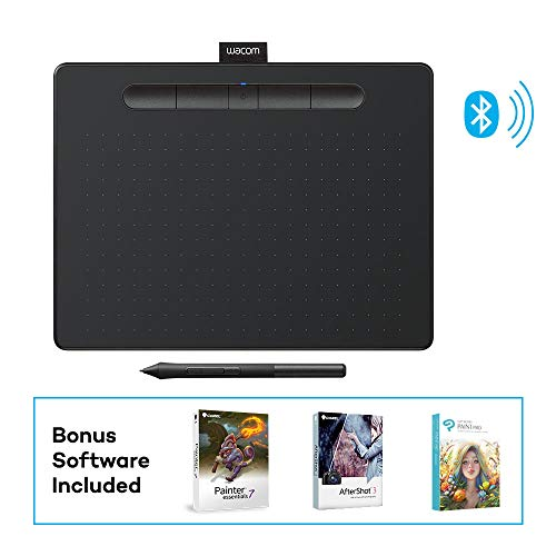 Wacom Intuos Wireless Graphics Drawing Tablet with 3 Bonus Software Included, 10.4' X 7.8', Black (CTL6100WLK0)