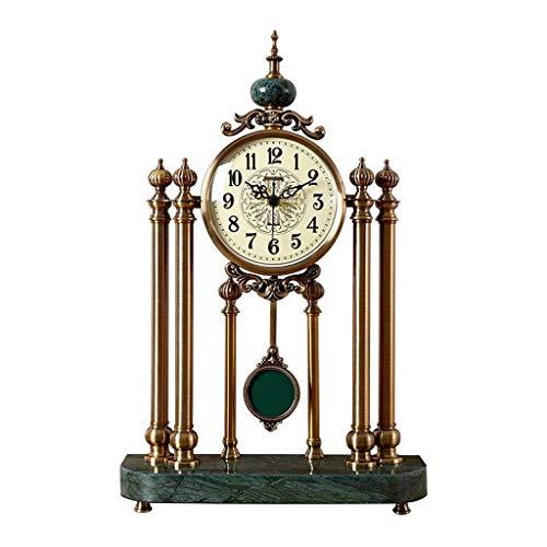 Soporte de Reloj Columpio Adornos para Sala de Estar Muebles nórdicos Reloj Reloj de péndulo Escritorio Americano Reloj de Mesa de péndulo Adorno Verde 6 Pulgadas Hogar al Aire Libre (Color: B)