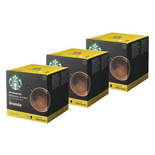 Nescafé Dolce Gusto Starbucks Veranda Blend Grande 3er Set, Kaffee, Kaffeekapseln, Röstkaffee, 3 x 12 Kapseln
