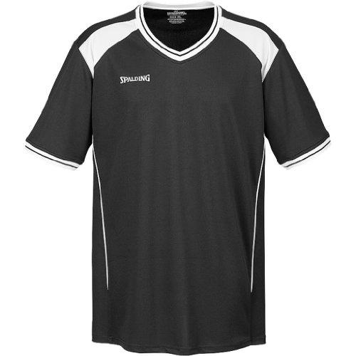 Spalding Crossover Shooting Shirt Basketball schwarz schwarz-weiß, L