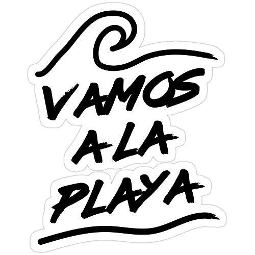 Vinyl Sticker for Cars, Trucks, Water Bottle, Fridge, Laptops Vamos a la Playa Stickers (3 Pcs/Pack)
