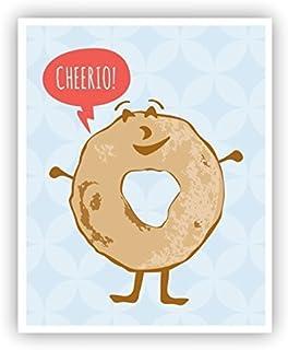 Cheerio Poster Funny Pun Art 11 x 14