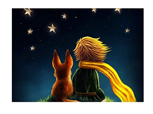 Poster leinwand malerei muralThe Little Prince Leinwand Poster Wandkunst Leinwand Malerei Dekorative Bild für Wohnzimmer Dekoration pKDFN