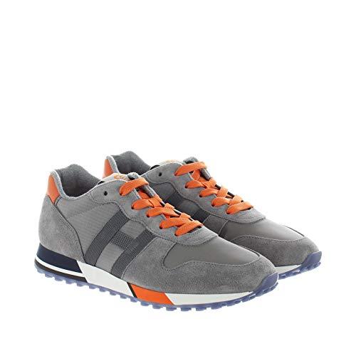 Hogan Sneakers H383 IN Suede E Tessuto Tecnico Grigio 41