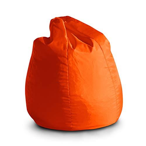 Pouf Poltrona Sacco per Bambini Bag Jive 65x65x90cm Made in Italy in Tessuto antistrappo Imbottito Colore Arancio