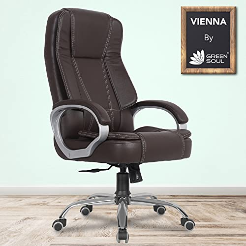Green Soul® Vienna High Back Leatherette Executive...