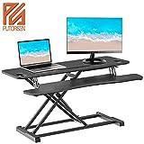 PUTORSEN® Standing Desk Height Adjustable Sit Stand Desk Converter Stand Up Desk Riser