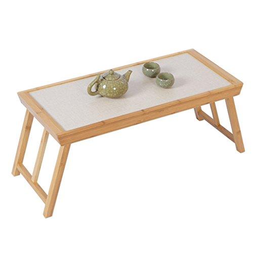 Tisch Klapptisch Tatami Couchtisch japanischen Stil einfachen Klapptisch Computertisch kleinen Couchtisch niedrigen Tisch Tisch (Color : Brown, Size : 65 * 28 * 28cm)