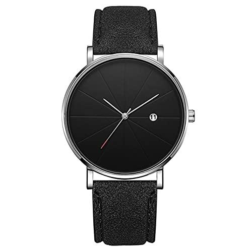 Reloj de moda simple Dial redondo Pantalla analógica Reloj de pulsera de cuarzo Accesorio de joyería Reloj de pulsera para hombres (# 9)