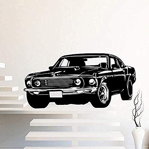 Muursticker,mode vintage auto muursticker zelfklevende kunst behang voor de woonkamer slaapkamer stickers decor kinderkamer decoratie muurschilderingen decals 120x58cm