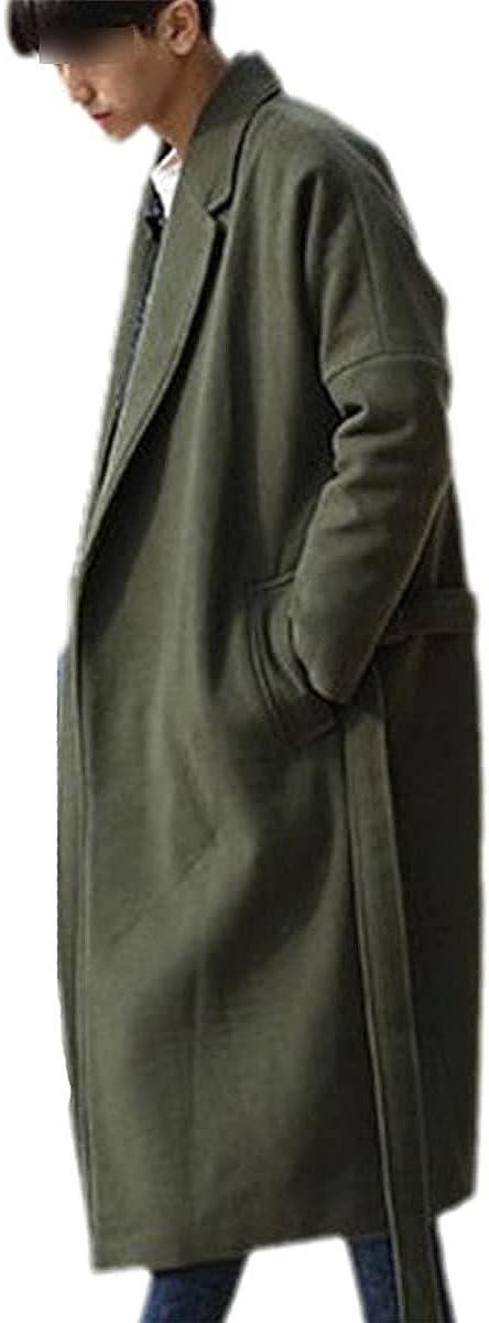 Wool Blend Coat Men's Winter Fashion All-Match Coat Thick Warm Casual Wool Coat