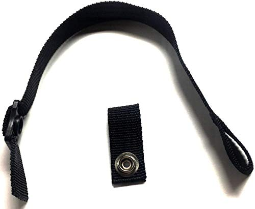 Fix My Gear Hockey Helmet Chin Strap with Single Snap (Black)