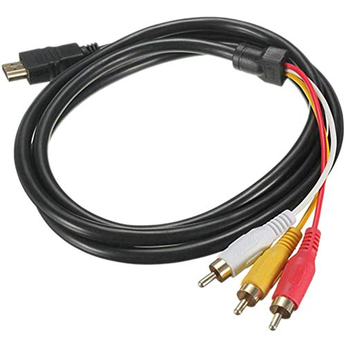 Gesh a RCA Cable 1080P macho a 3 RCA S-Video AV cable de audio para TV, HDTV DVD