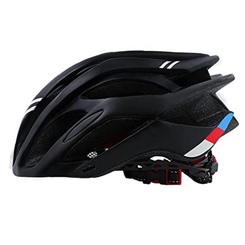 LjzlSxMF Casco De La Bici-cómodo, Ligero, Transpirable, Caja De Montaña Ciclismo De Carretera Bicicleta Equipo Casco para Mujeres Hombres Deporte Al Aire Libre (Negro)