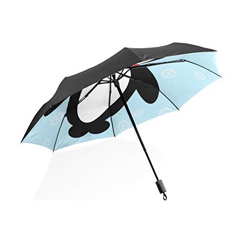 Montoj Regenschirm für Weihnachten, Pinguin, UV-Schutz