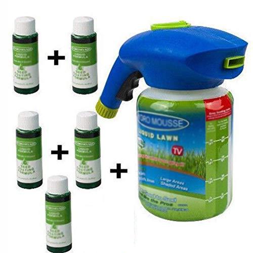 LSGD Pulverizador de Semillas, Sistema de césped líquido Pulverizador de Semillas de césped con nutritiva, para el Sistema de siembra doméstica de Pasto de Semillas...