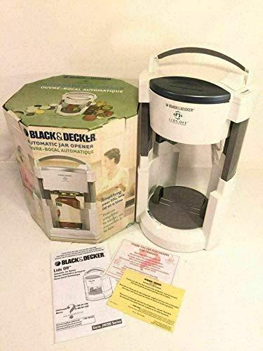 Black Decker Lids Off Automatic Jar Opener White Model JW200 Original Box