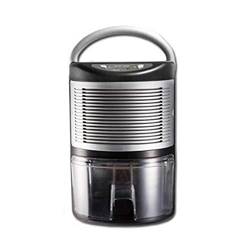 GGRYX Mini Deshumidificador, 1000 ml, Deshumidificador Electrico Pantalla Digital Temporizador, Deshumidificador Aire para Habitaciones como El Hogar, El Garaje, La Caravana,Black