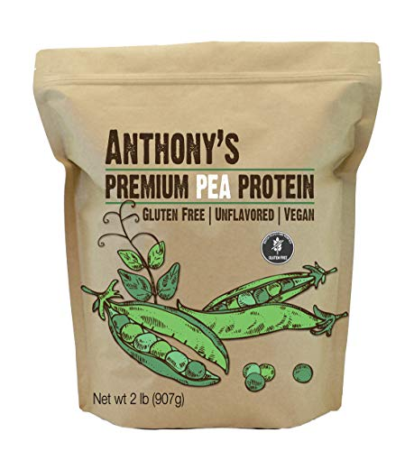 Anthony's Premium Pea Protein, 2 lb, Plant Based, Gluten Free, Unflavored, Vegan, Keto Friendly