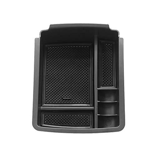 KKmoon Organizer Interno Console Auto Scatola di Immagazzinaggio, Contenitore del Supporto Bracciolo Adatto per VW Golf 7 MK7 2014 2015 2016 2017 2018