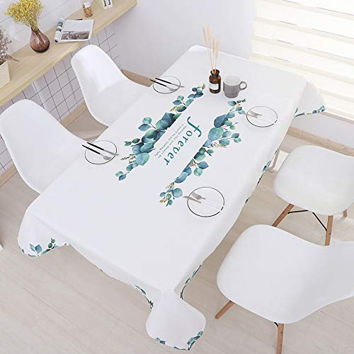 LIUJIU Tablecloth Hotel Large Round Tablecloth Hotel Plastic Round Tablecloth Household Waterproof Oilproof Wash-Proof Anti-Scalding Big Round Table Tablecloth,110x170cm