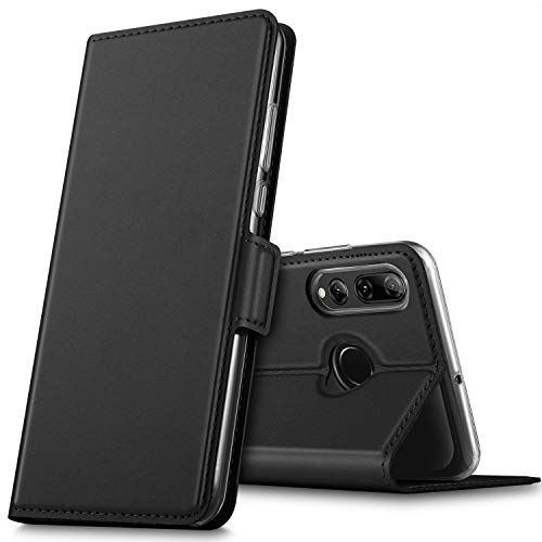 GEEMAI für Huawei P Smart Plus 2019 Hülle, für Honor 20 Lite Hülle, handyhüllen Flip Hülle Wallet Stylish mit Standfunktion und Magnetisch PU Schutzhülle passt für Huawei P Smart+ 2019 Phone,Schwarz