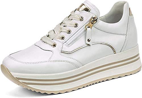 Nero Giardini E010560D Sneakers Donna in Pelle - Bianco 38 EU