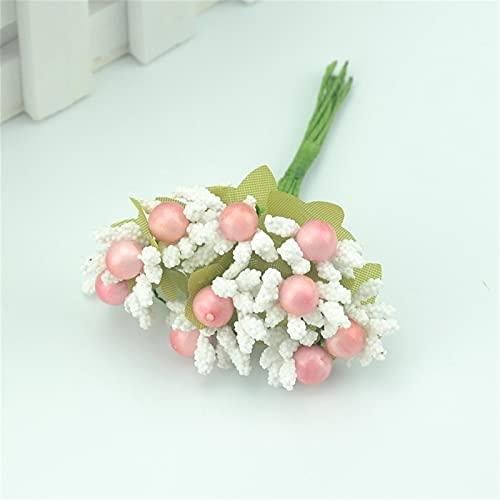 ENISHCHY 10 stücke Maulbeer Künstliche Blume Seide Brautkleid DIY. Cake Card Clip Art Dekoration Handwerk (Color : Color4)