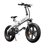 Bicicleta eléctrica Plegable ADO A20F para Hombres y Mujeres, Bicicleta eléctrica para Ciudad de 250 W, con batería extraíble de 36 V y 10,4 Ah, Bicicleta eléctrica de 25 km/h