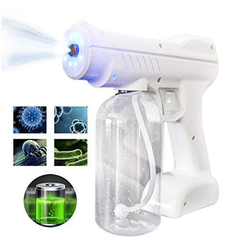 800ML Wireless Desinfektion Blaues Licht Nano Steam Gun, Haarspray Nano Mister Hair Steamer Desinfektion Und Sterilisation für Büro Zuhause Schönheit Salon
