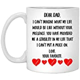 N\A Mensaje del día del Padre para papá: me has proporcionado una Estabilidad en mi Vida Que no Puedo ponerle Precio a una Taza de café con Leche de 11 oz