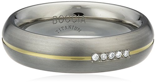 Boccia Damen-Ring You & me Titan Diamant (0.025 ct) Brillantschliff weiß Gr. 55 (17.5) - 0130-0455