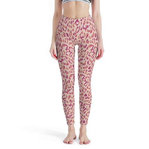 XJJ88 Pantalones de Yoga Sexy para Mujer, diseño de Leopardo, Medias, Capri,...
