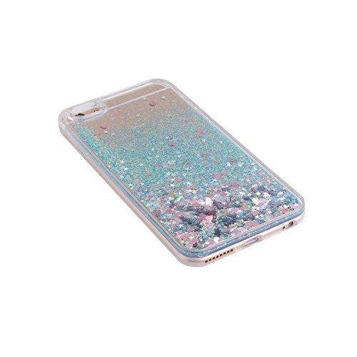 iPhone 6S Case, SAUS iPhone 6 Case, Funny Liquid Infused with Floating Bling Glitter Sparkle Dynamic Flowing Hybrid Bumper Case for iPhone 6/6S (Purple)