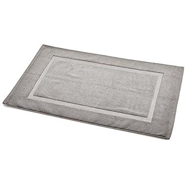 AmazonBasics Banded Bath Mat, Grey