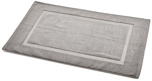 Amazon Basics Tapis de bain à galon Gris
