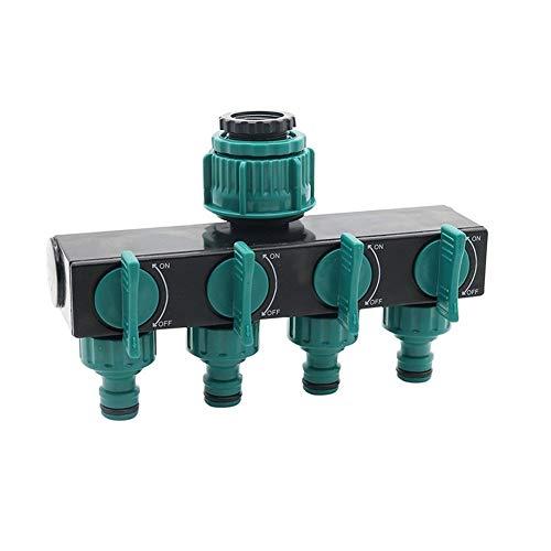 DZSW Cmdzsw 1/2' -3/4' -1' Manguera de riego Distribuidor Adaptador de Cuatro vías de Agua Tubo de unión (Color : Green, Size : 1/2'')