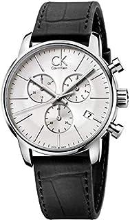 Calvin Klein Men's Silver Dial Leather Band Watch - K2G271C6