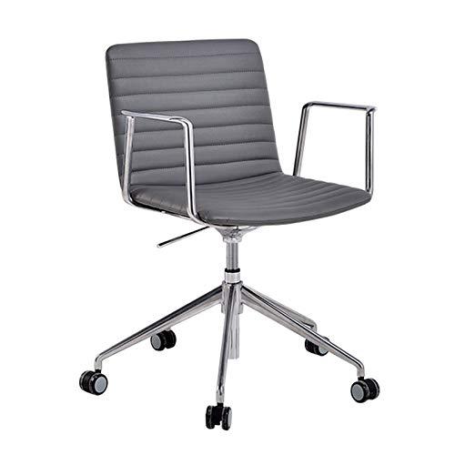 LIUXING-Home Computertisch Und Stuhl Tisch Und Stuhl Höhenverst PU-Leder-Schwenkstuhl-Vorsitzender ergonomischer Executive-Bürostuhl Chefbürostuhl Verstellbare Liege (Color : Gray, Size : One Size)