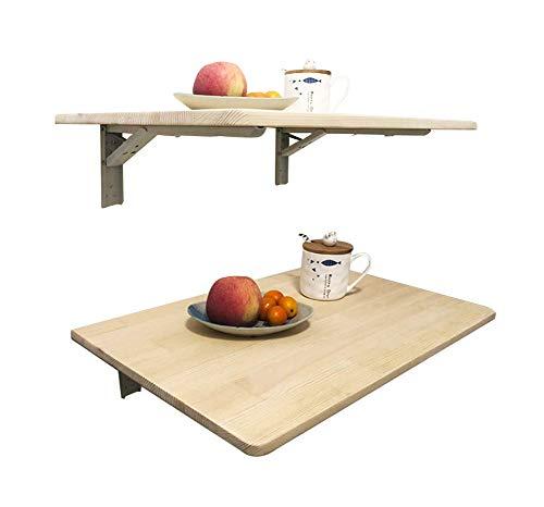 Q&Z Mesa Plegable De Pared PortáTil Mesa Montada Madera Mesa De Ordenador Abatible Escritorio Mesa De Cocina Mesa De Oficina Simple Y Plegable