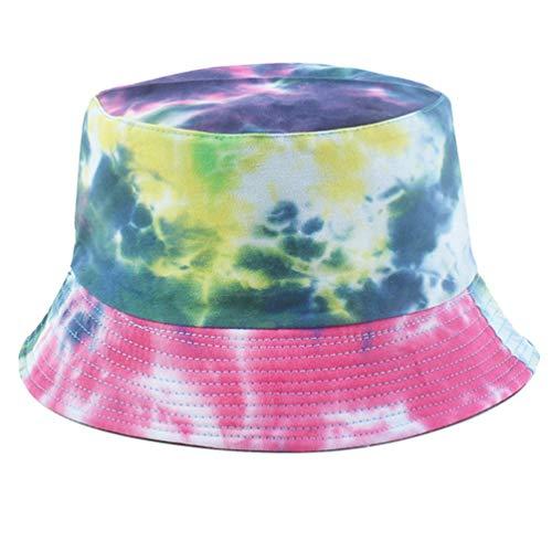 KESYOO Sombrero de Cubo Personalizado Gorro de Pescador Colorido Sombrero de Protección Ultravioleta Al Aire Libre Gorro de Verano para Viajes Senderismo Camping Playa Deportes Suministros (Estilo 1)
