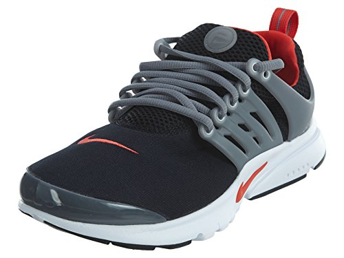 Nike Presto (GS) Big Kids Running Shoes Black/Max Orange/Cool Grey 833875-011 (5 M US)