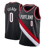 YUHJ Camiseta de Baloncesto para Hombre Trailblazers Jersey 0# Lillard Chaleco Retro Transpirable Malla Uniforme de Baloncesto de Secado rápido XL Black001