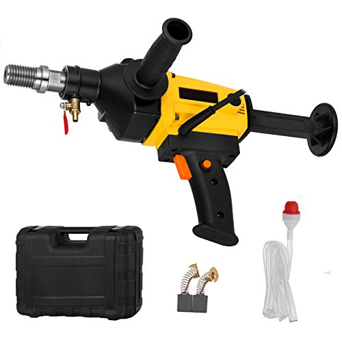Happybuy Diamond Core Drilling Machine 4 Inch 110mm, Handheld Diamond Core Drill 1800W, Core Drill Rig 1700r/min, Variable Speed Wet Dry for Diamond Concrete Drilling Boring